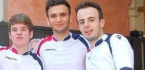 Stefano Foppiani, primo a destra